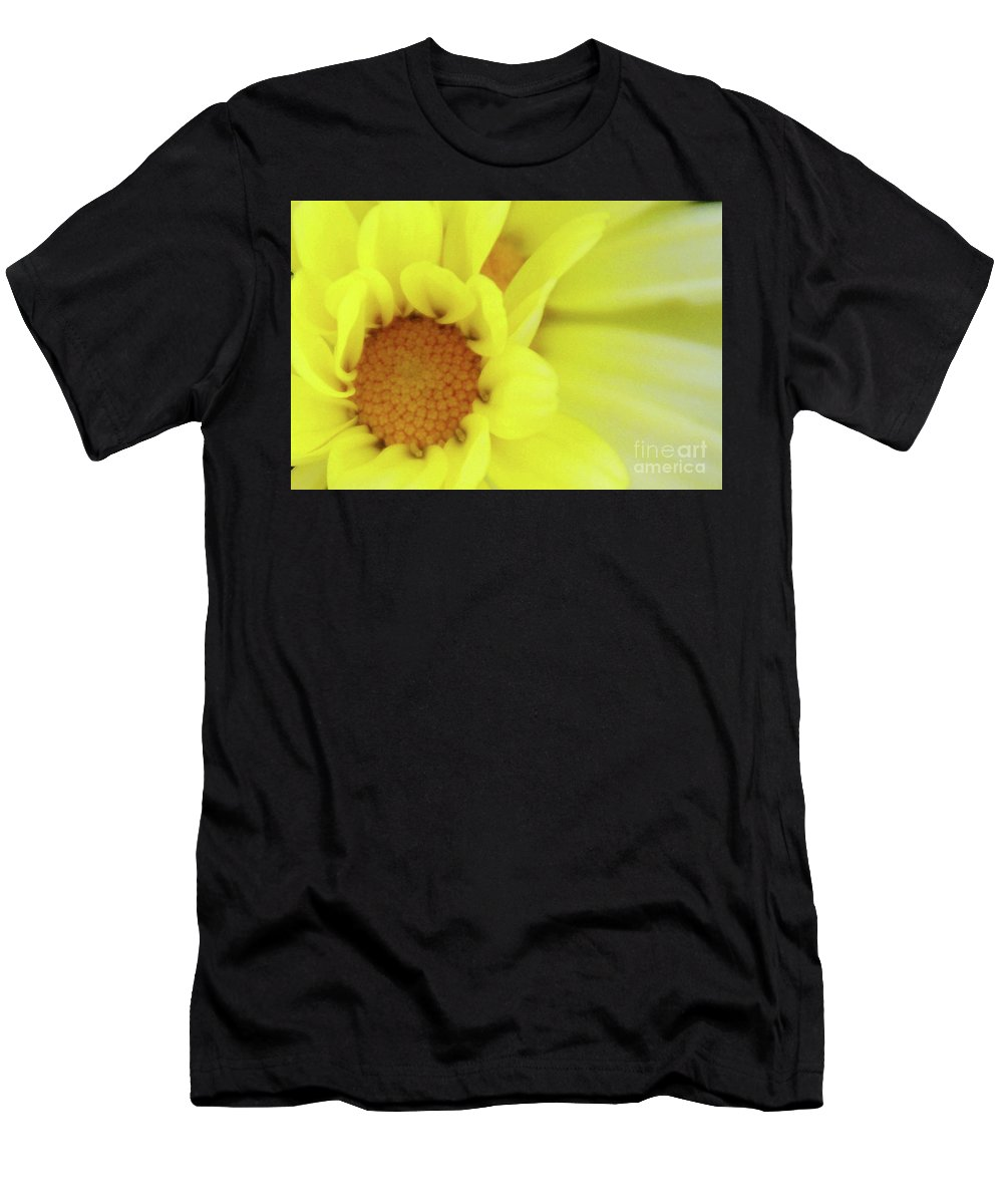 Flower Men's T-Shirt (Athletic Fit) featuring the photograph Lemon Chiffon by Linda Shafer