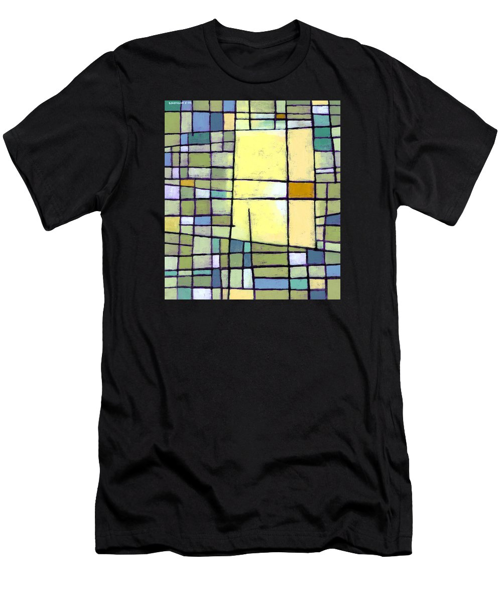 Abstract T-Shirt featuring the painting Lemon Squeeze by Douglas Simonson