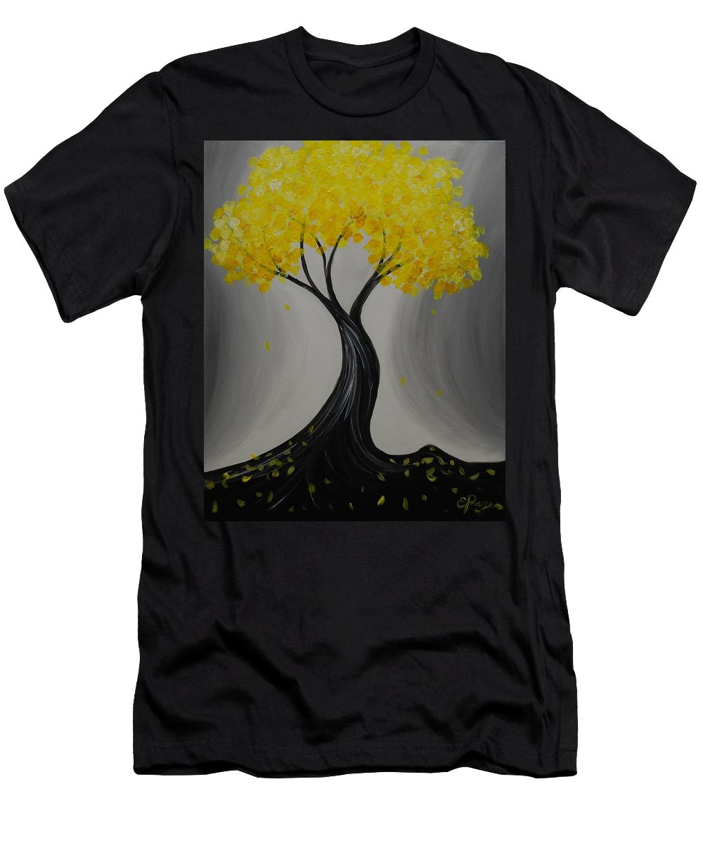 Twisty Tree Men's T-Shirt (Athletic Fit) featuring the painting Lemon Twist by Emily Page