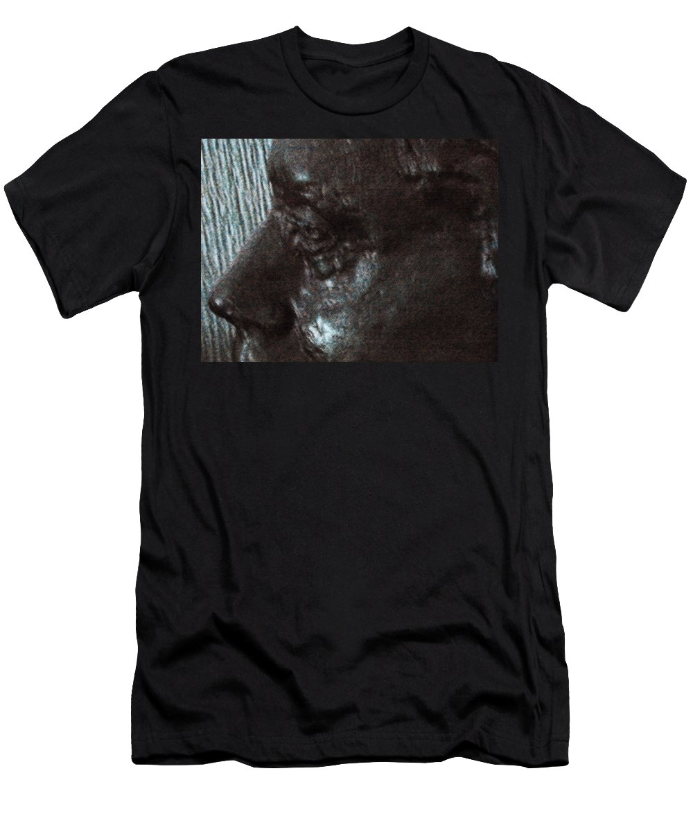 Abstract Men's T-Shirt (Athletic Fit) featuring the photograph Lenore As Bronze by Lenore Senior
