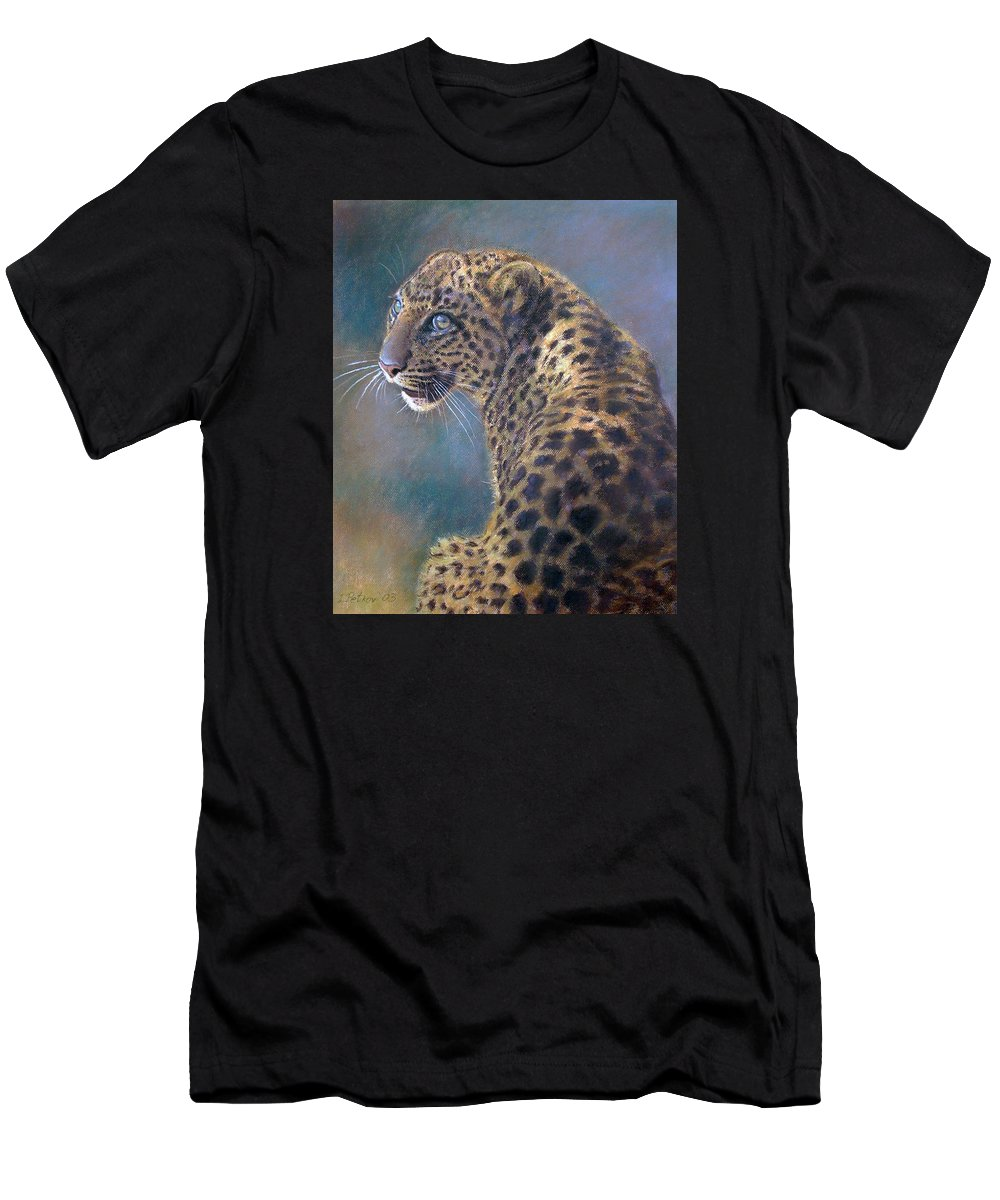 Cats Men's T-Shirt (Athletic Fit) featuring the pastel Leopard by Iliyan Bozhanov
