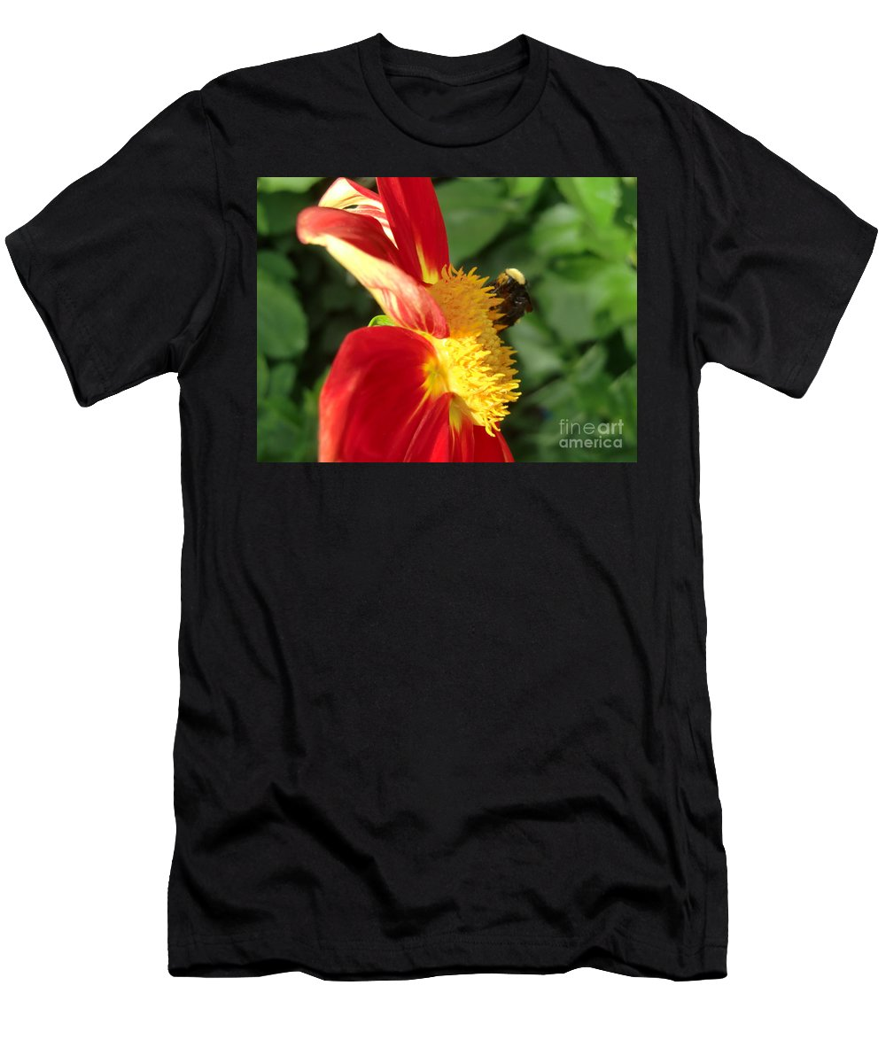 Bee Men's T-Shirt (Athletic Fit) featuring the photograph Let It Bee by Chris Colibaba