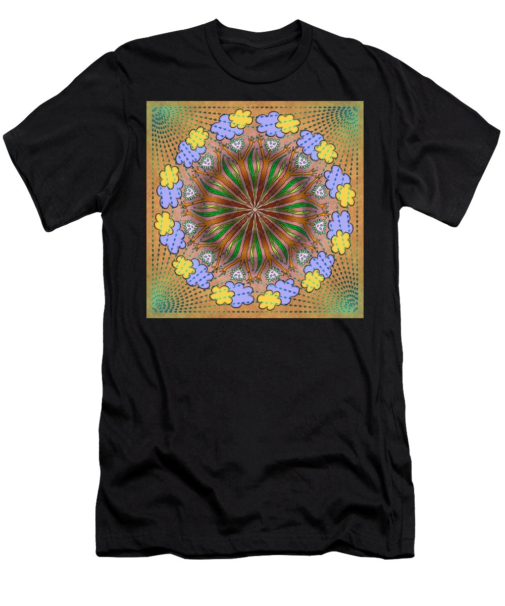 Whimsical Mandalas Men's T-Shirt (Athletic Fit) featuring the digital art Let It Rain by Becky Titus