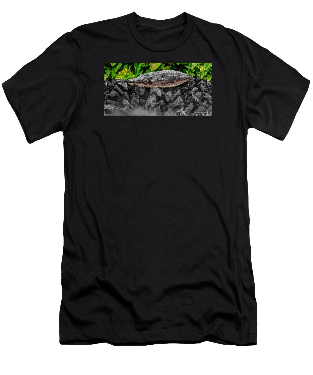 American Men's T-Shirt (Athletic Fit) featuring the photograph Let Sleeping Gators Lie - Mod by Christopher Holmes