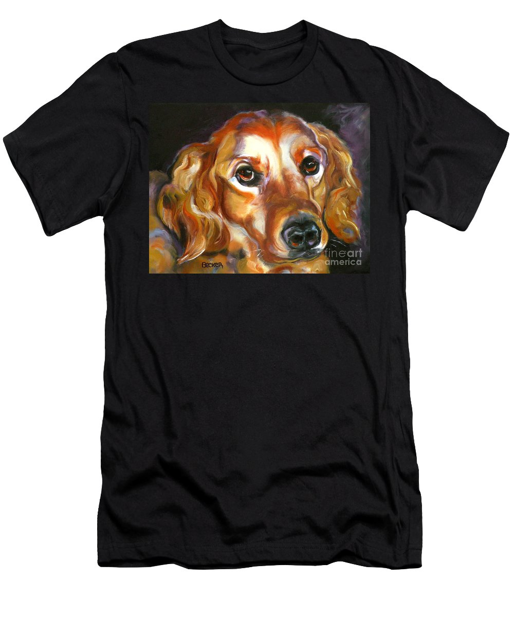 Oil Men's T-Shirt (Athletic Fit) featuring the painting Let The Sunshine In by Susan A Becker