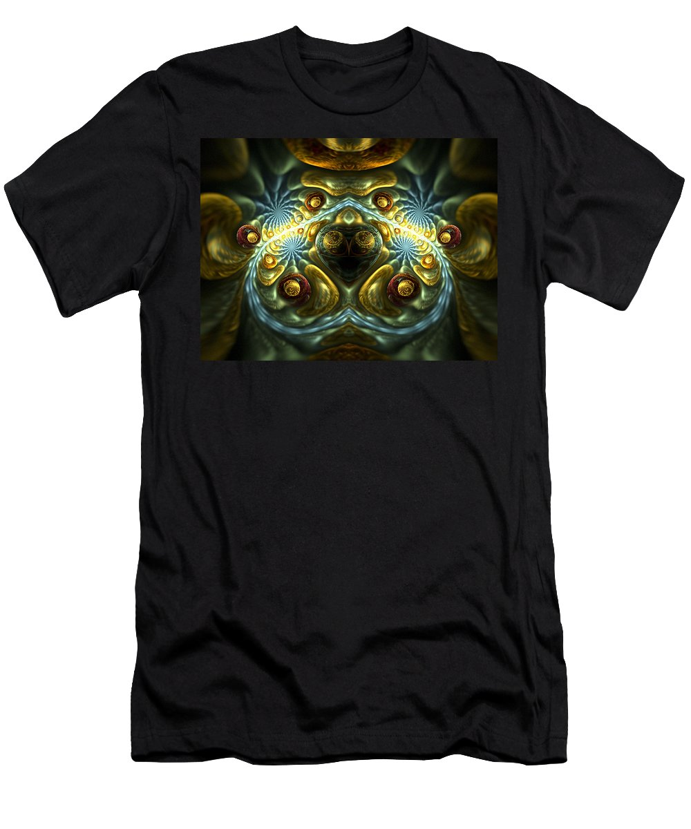 Fractal Men's T-Shirt (Athletic Fit) featuring the digital art Let Your Feelings Flow by Amorina Ashton