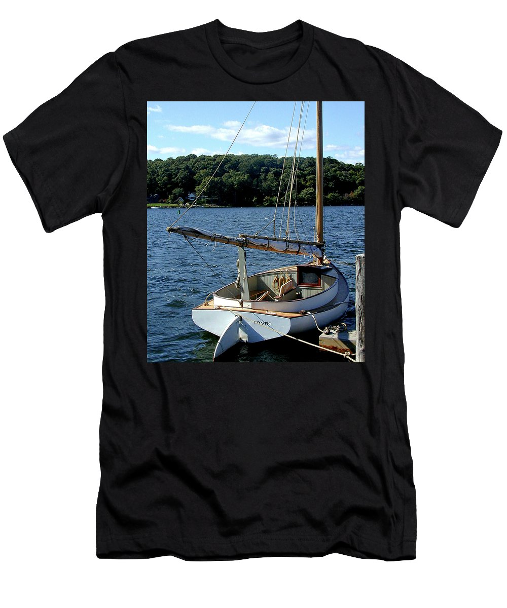 Mystic Seaport Men's T-Shirt (Athletic Fit) featuring the photograph Let's Go by Gary Adkins