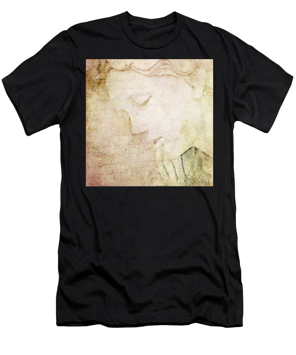 Theresa Tahara Men's T-Shirt (Athletic Fit) featuring the photograph Lettre A Mon Amour by Theresa Tahara