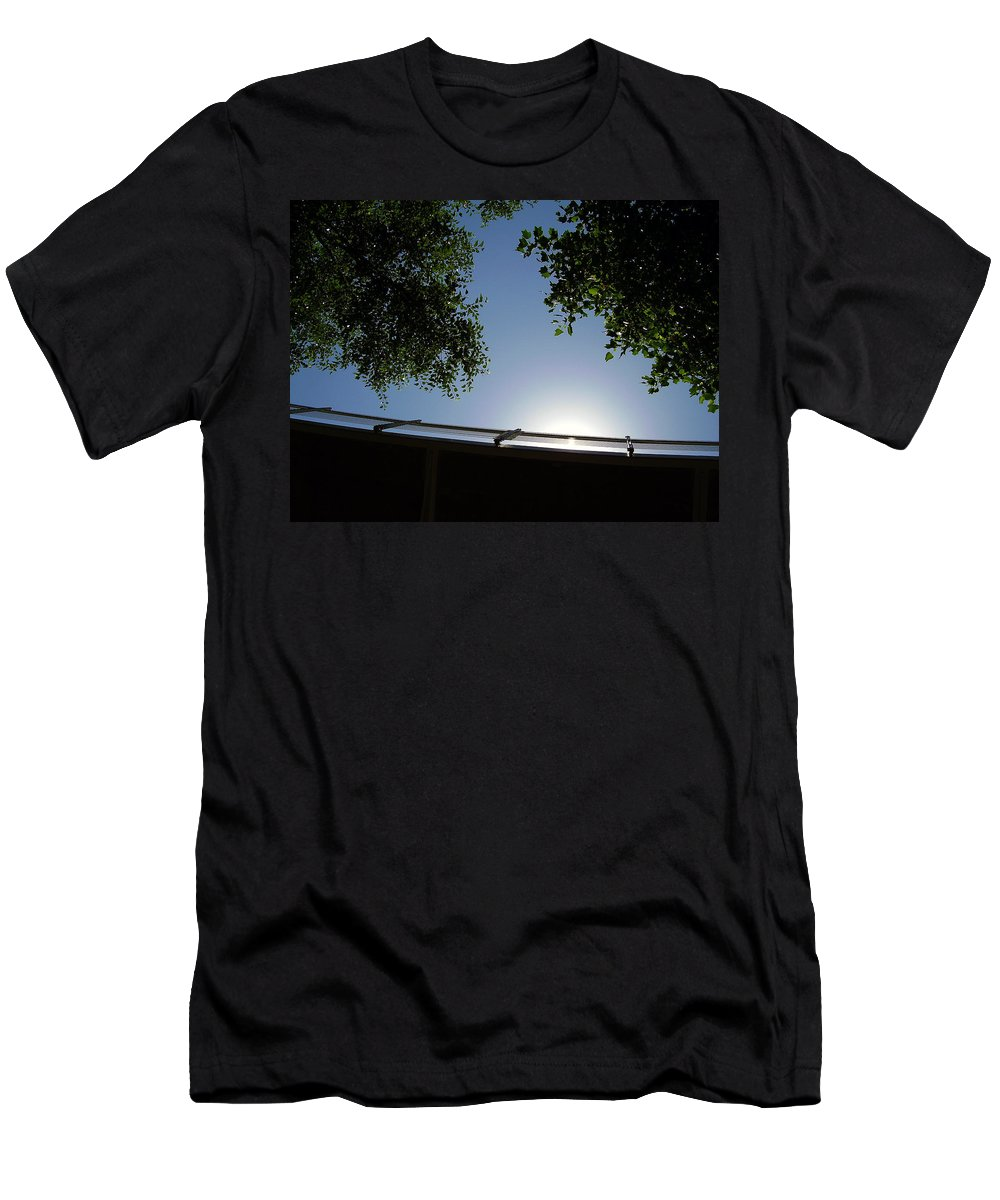 Liberty Bridge Men's T-Shirt (Athletic Fit) featuring the photograph Liberty Bridge by Flavia Westerwelle