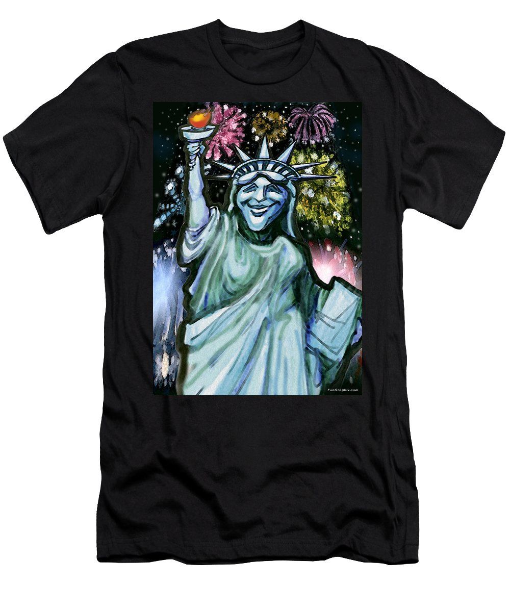 Liberty Men's T-Shirt (Athletic Fit) featuring the painting Liberty by Kevin Middleton