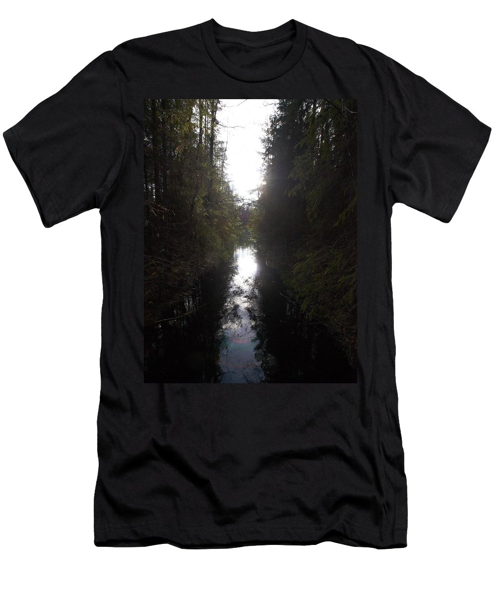Lehtokukka Men's T-Shirt (Athletic Fit) featuring the photograph Liesijoki 1 by Jouko Lehto