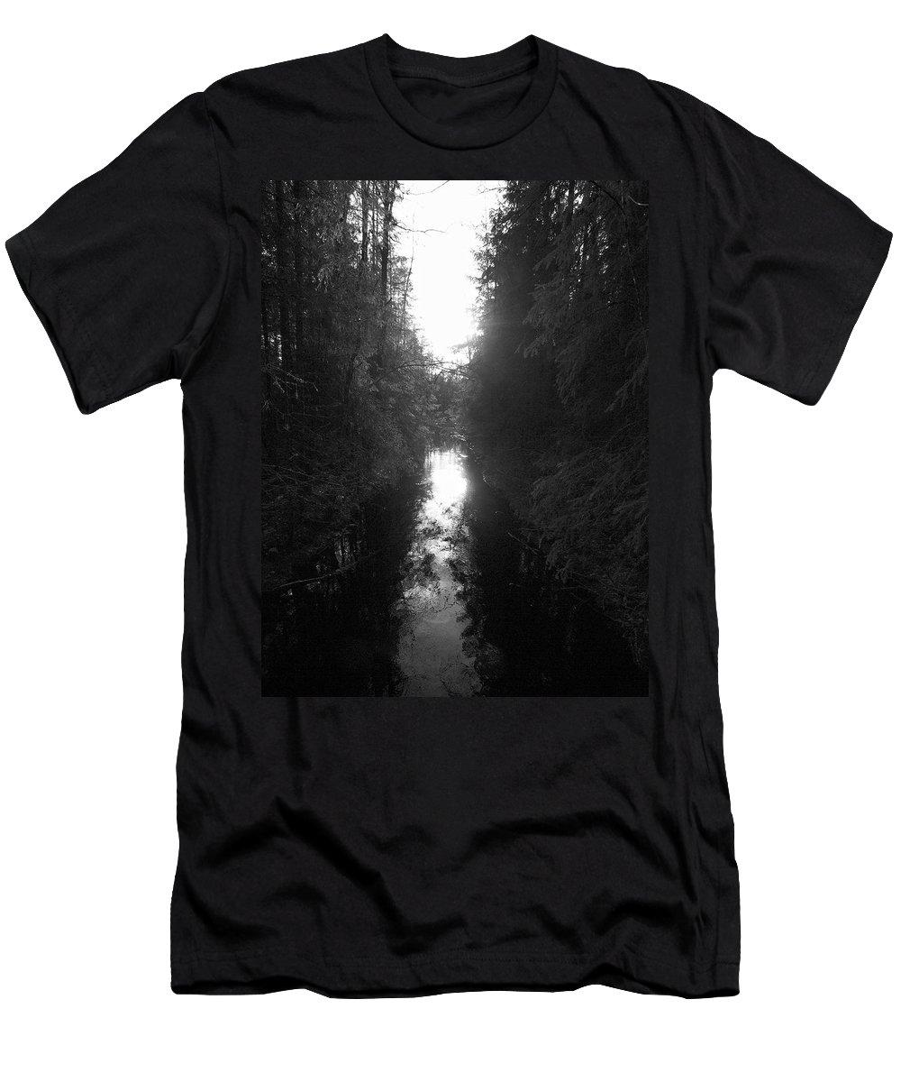 Lehtokukka Men's T-Shirt (Athletic Fit) featuring the photograph Liesijoki 2 by Jouko Lehto