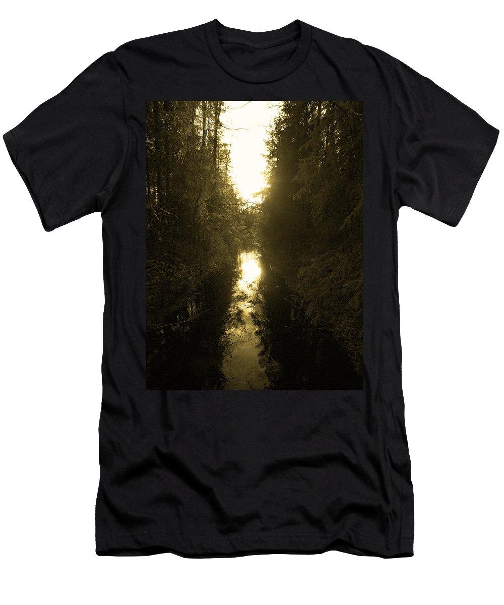 Lehtokukka Men's T-Shirt (Athletic Fit) featuring the photograph Liesijoki 3 by Jouko Lehto