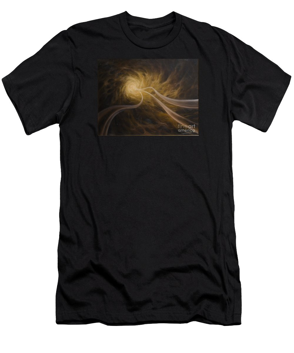 Abstract Men's T-Shirt (Athletic Fit) featuring the painting Life After Death by Arthur Braginsky