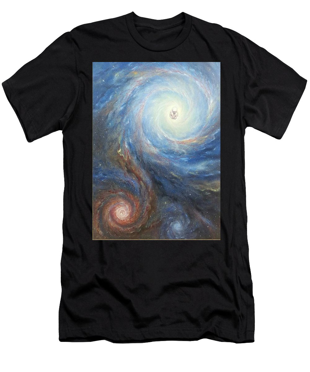 Stardust Men's T-Shirt (Athletic Fit) featuring the painting Life by Alexandru Burca
