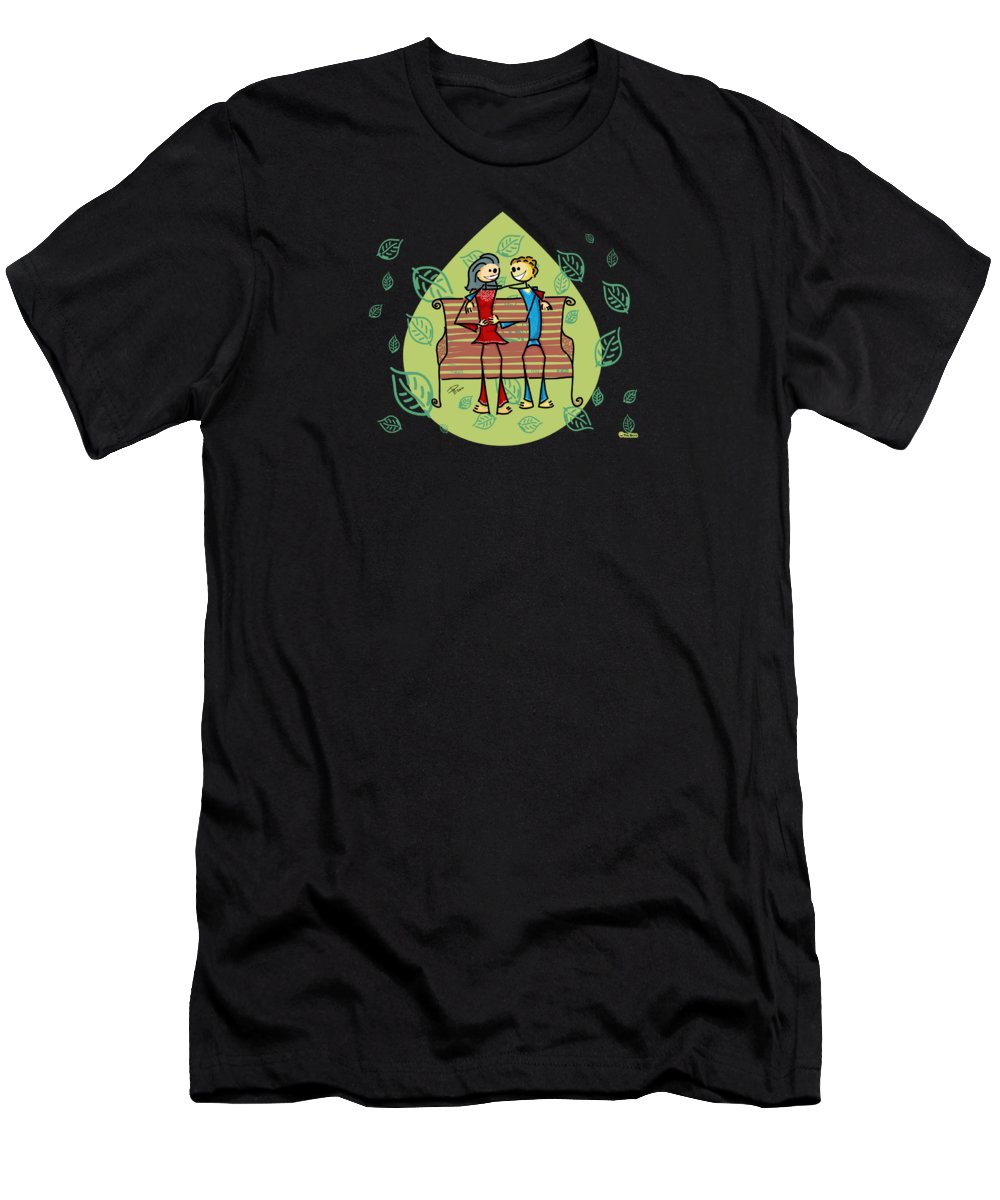 Funny Men's T-Shirt (Athletic Fit) featuring the digital art Life And Living by Giuseppe Lentini