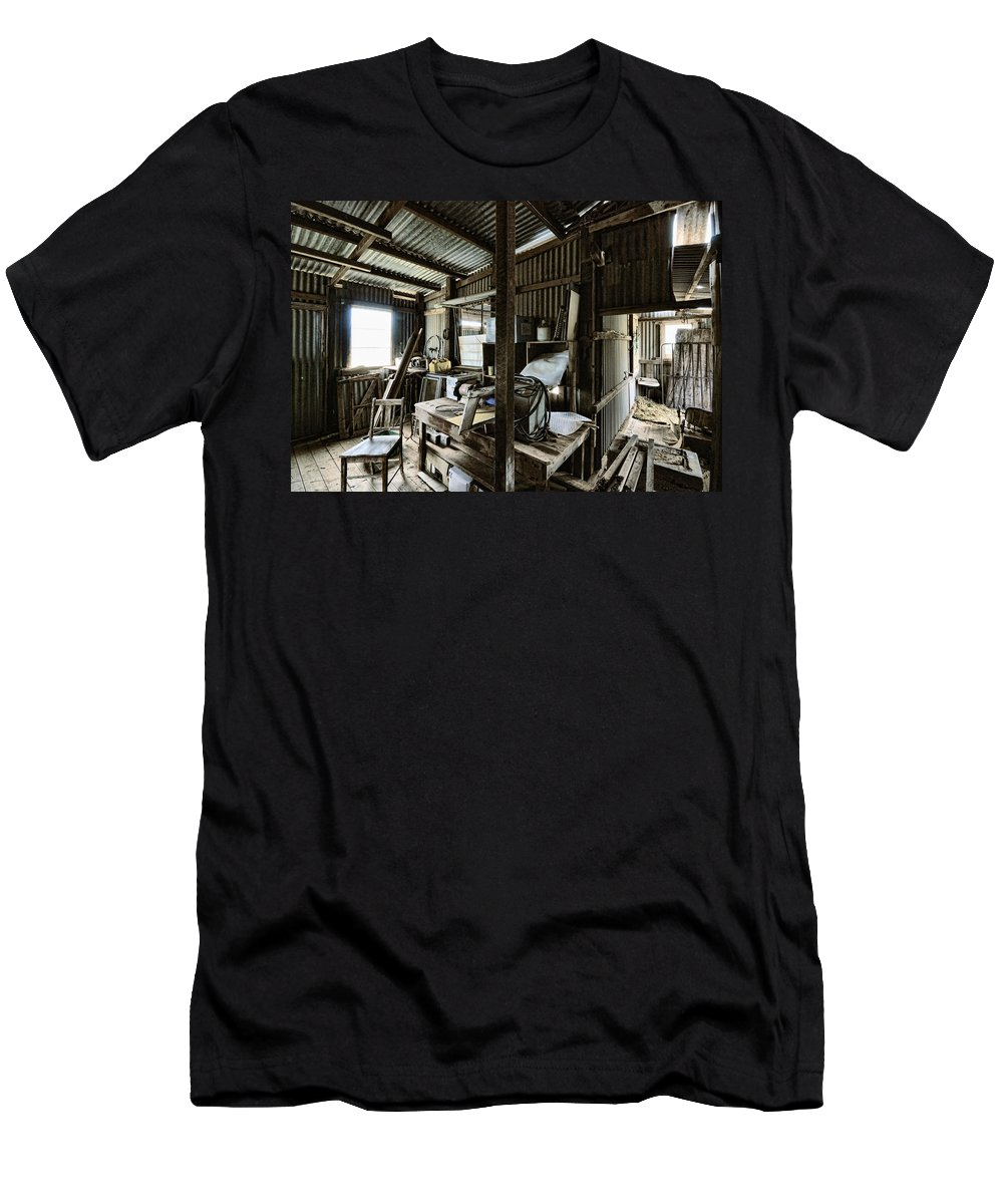 Shed Men's T-Shirt (Athletic Fit) featuring the photograph Life As A Shed by Wayne Sherriff