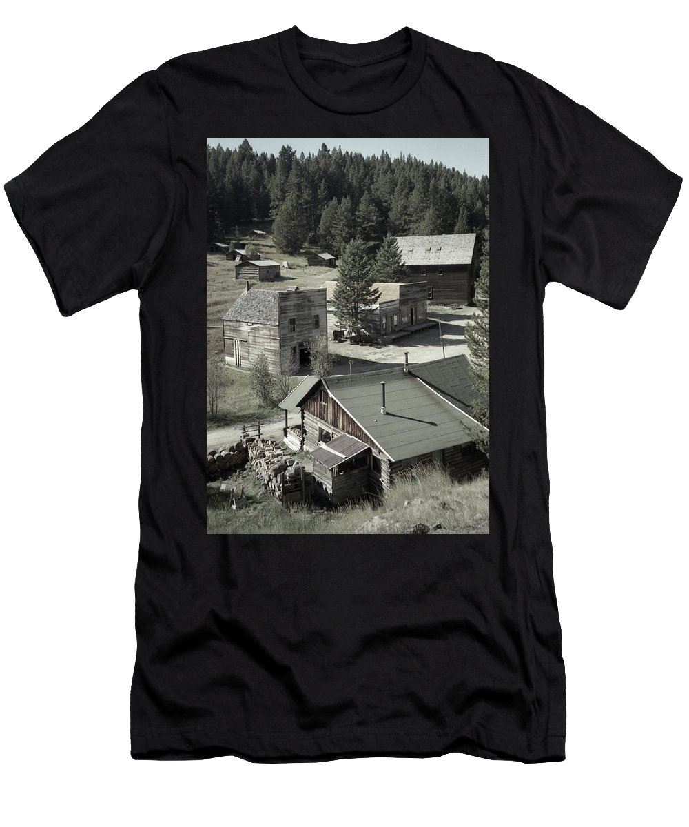 Ghost Towns Men's T-Shirt (Athletic Fit) featuring the photograph Life In A Ghost Town by Richard Rizzo