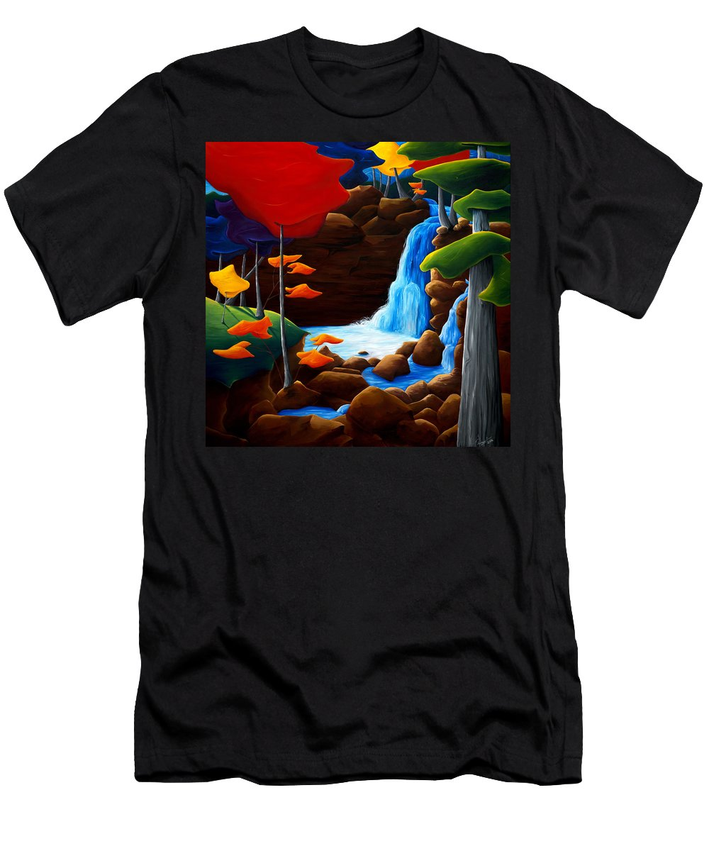 Landscape Men's T-Shirt (Athletic Fit) featuring the painting Life In Progress by Richard Hoedl