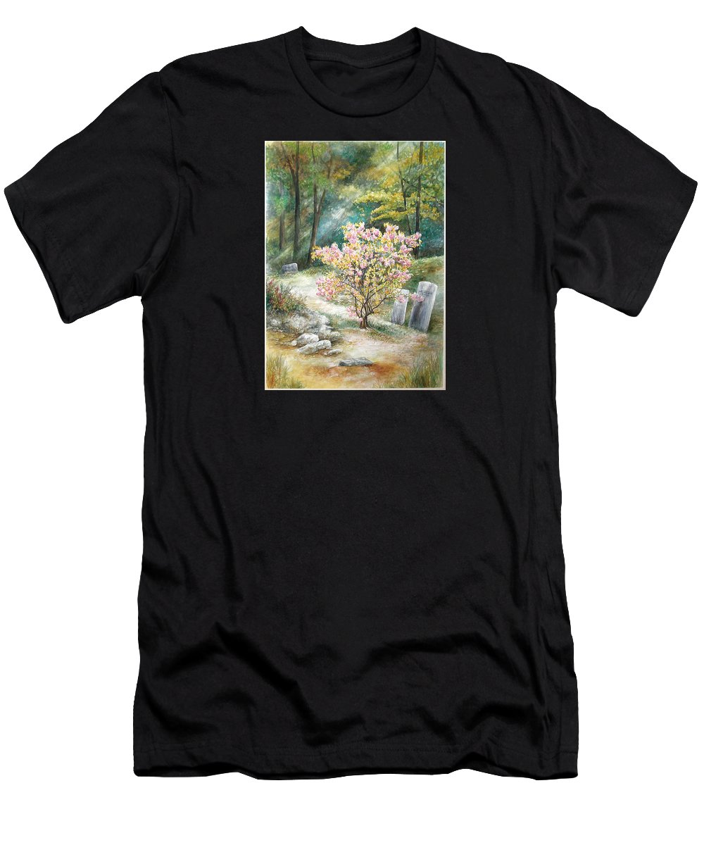 Landscape Men's T-Shirt (Athletic Fit) featuring the painting Life by Valerie Meotti