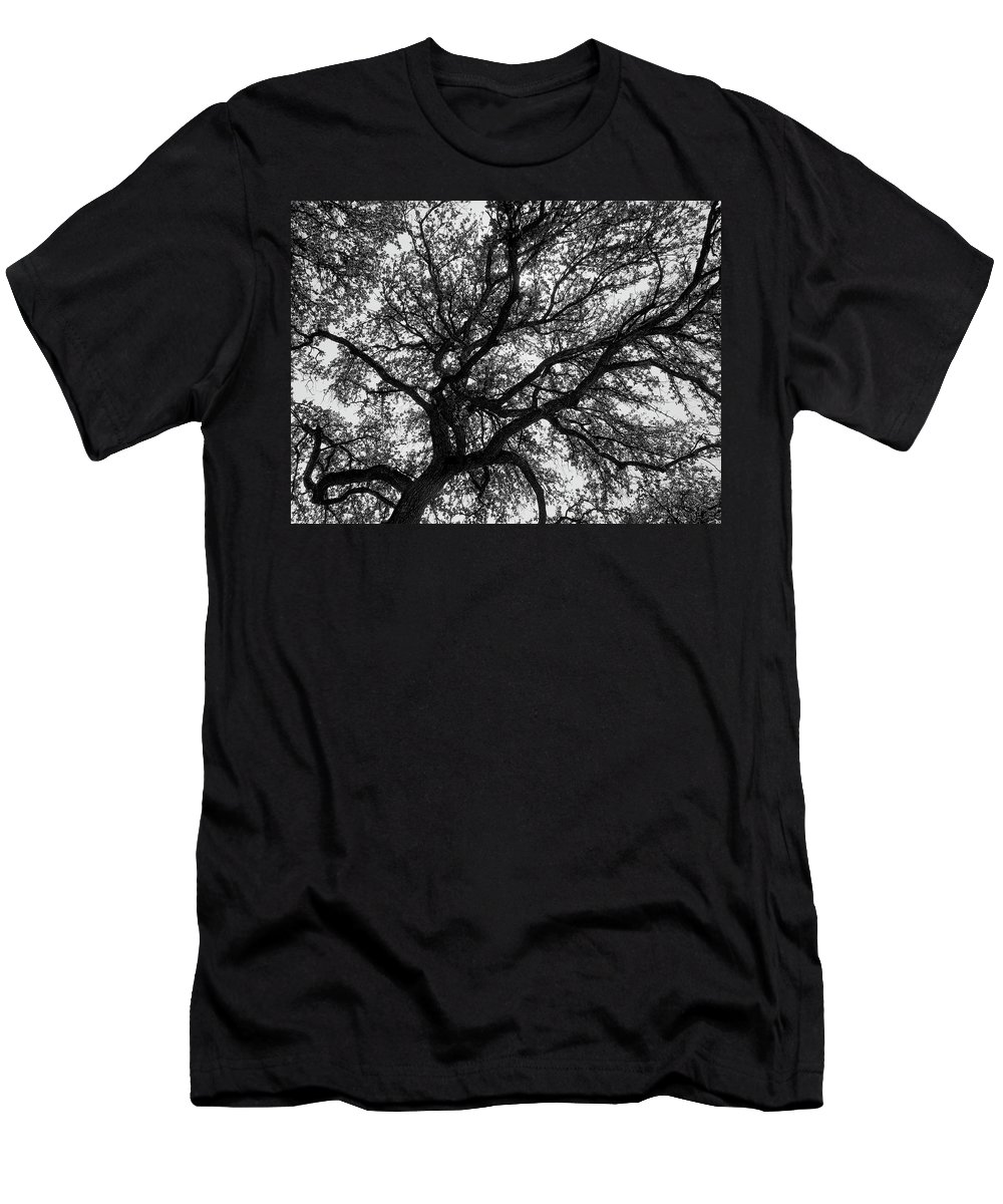 Black And White Men's T-Shirt (Athletic Fit) featuring the photograph Lifeline by Dan Zarate
