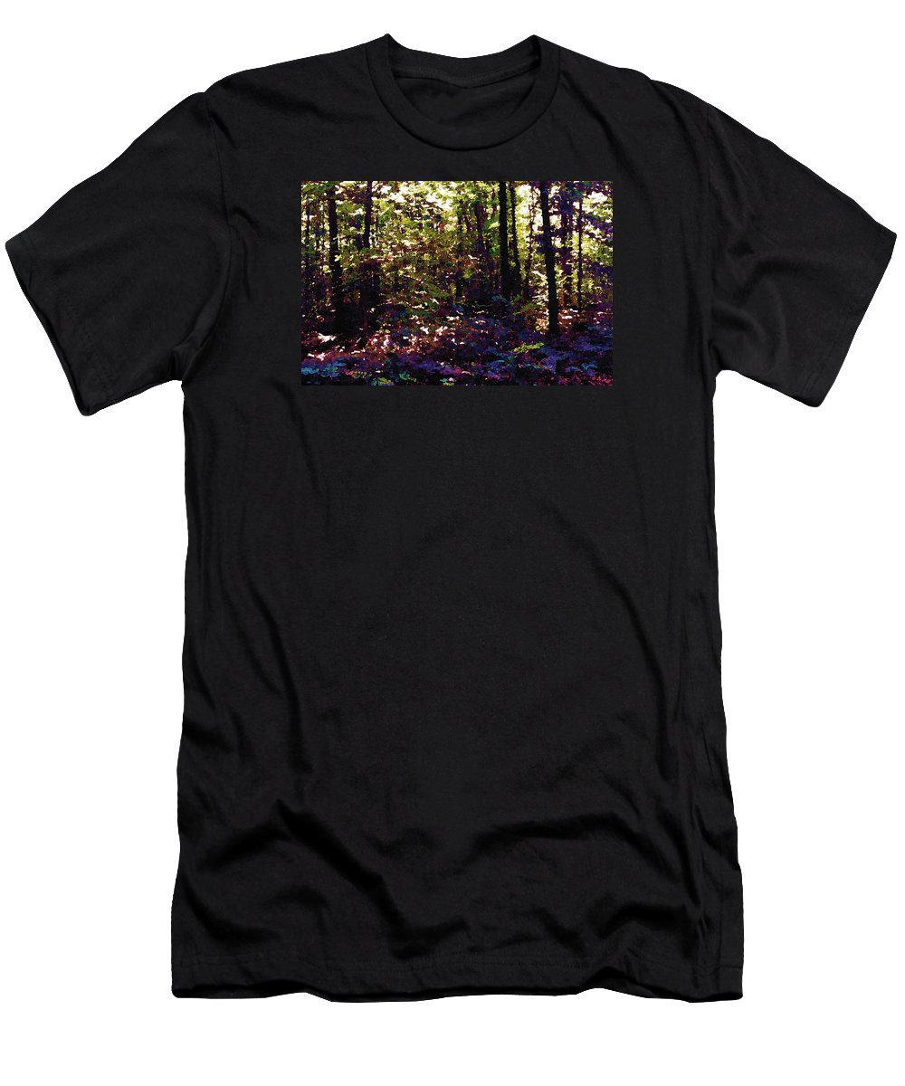 Abstract Men's T-Shirt (Athletic Fit) featuring the photograph Light And Trees Wcsa by Lyle Crump