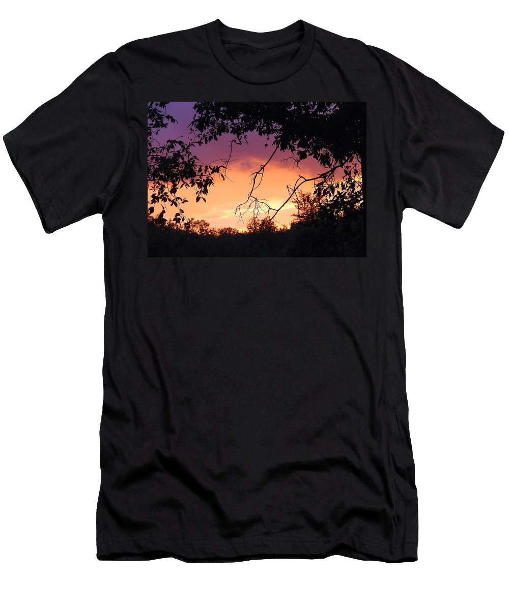 Storm Men's T-Shirt (Athletic Fit) featuring the photograph Light At The End Of The Storm by J R Seymour