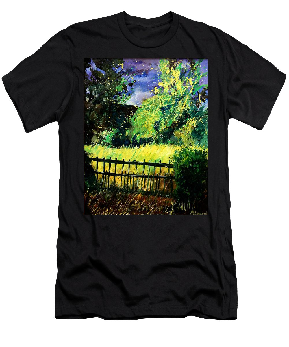 Spring Men's T-Shirt (Athletic Fit) featuring the painting Light Before The Storm by Pol Ledent