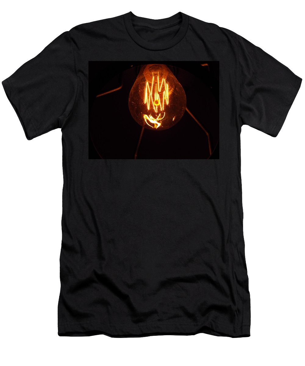 Light Bulb Men's T-Shirt (Athletic Fit) featuring the photograph Light Bulb 002 by Helena Jajcevic