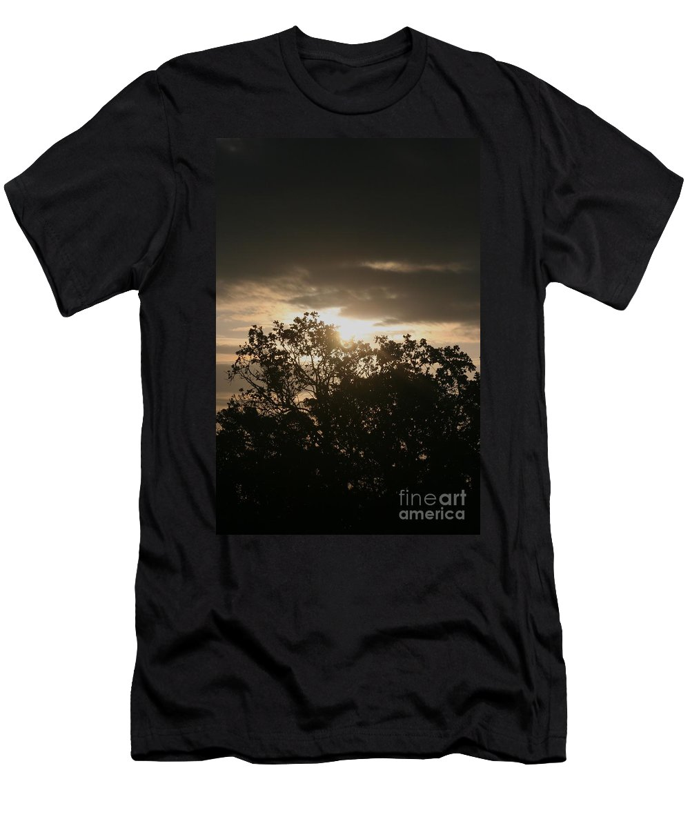 Light Men's T-Shirt (Athletic Fit) featuring the photograph Light Chasing Away The Darkness by Nadine Rippelmeyer
