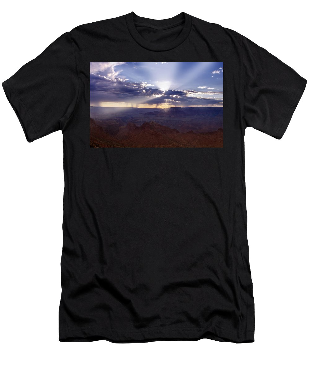 Grand Men's T-Shirt (Athletic Fit) featuring the photograph Light Explosion by Ricky Barnard
