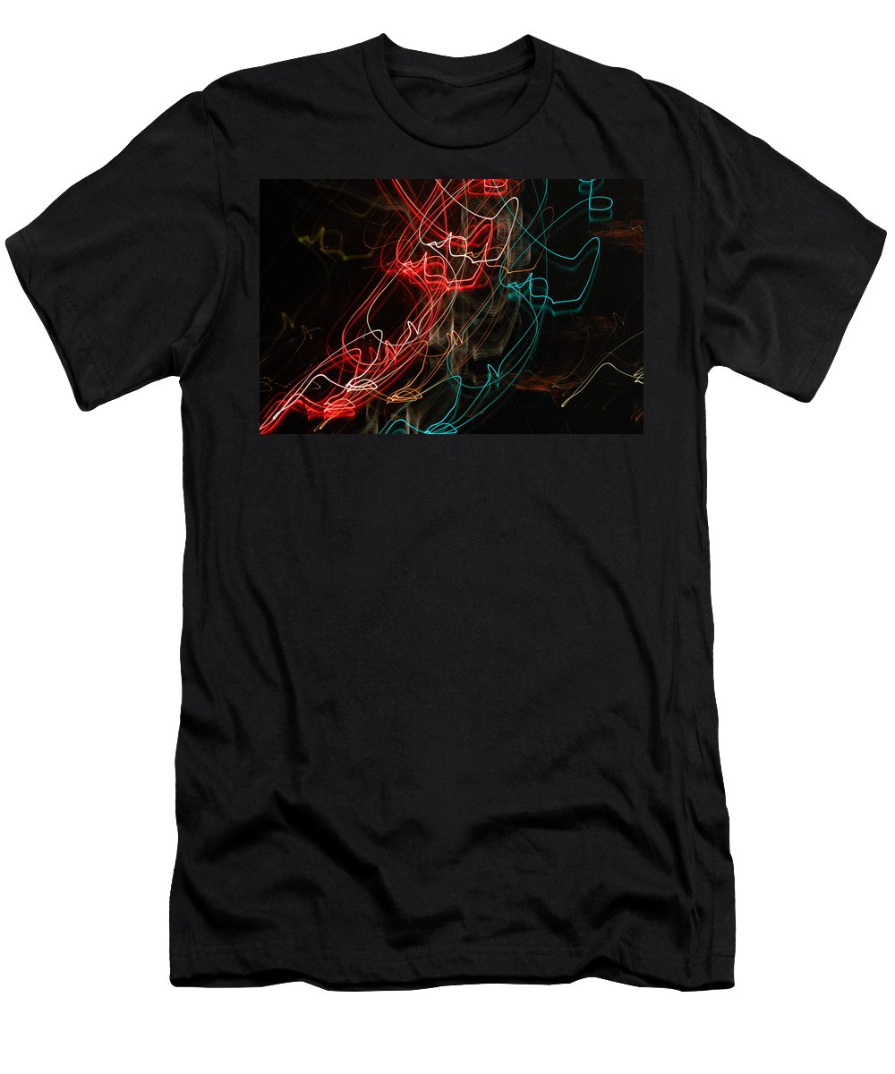 Abstract Digital Photo Men's T-Shirt (Athletic Fit) featuring the photograph Light In Motion by David Lane