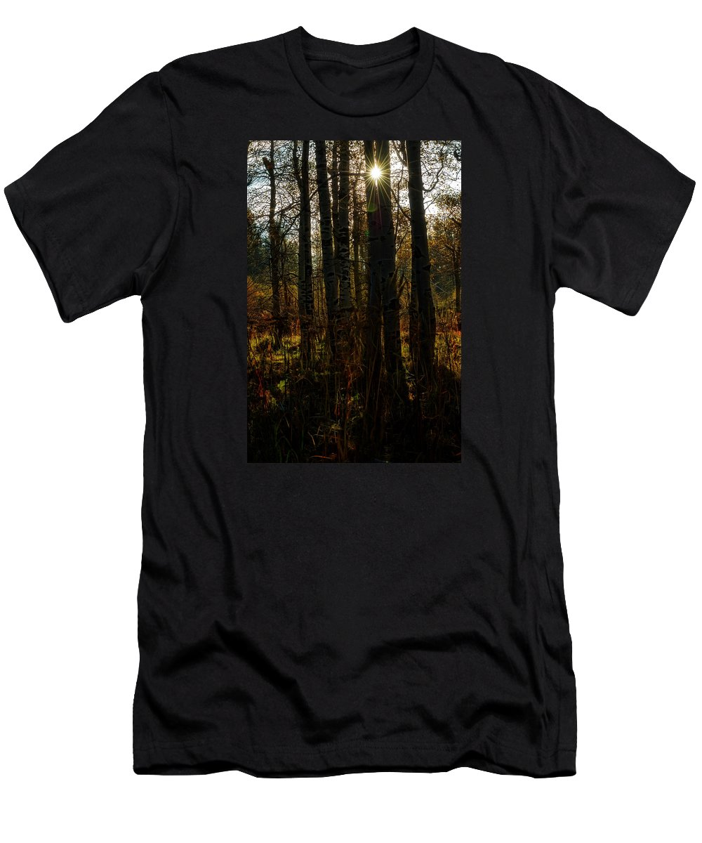 Men's T-Shirt (Athletic Fit) featuring the photograph Light Of The Virgin Morning by Dennis Bolton