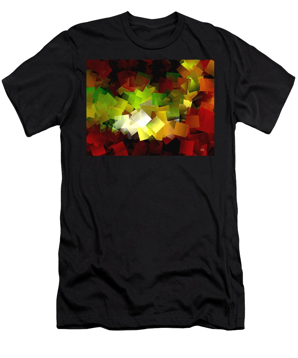 Kubic Men's T-Shirt (Athletic Fit) featuring the digital art Light On The End Of Darkness by Helmut Rottler