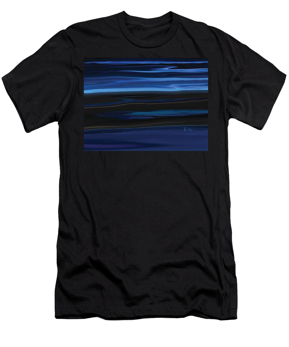 Black Men's T-Shirt (Athletic Fit) featuring the digital art Light On The Horizon by Rabi Khan