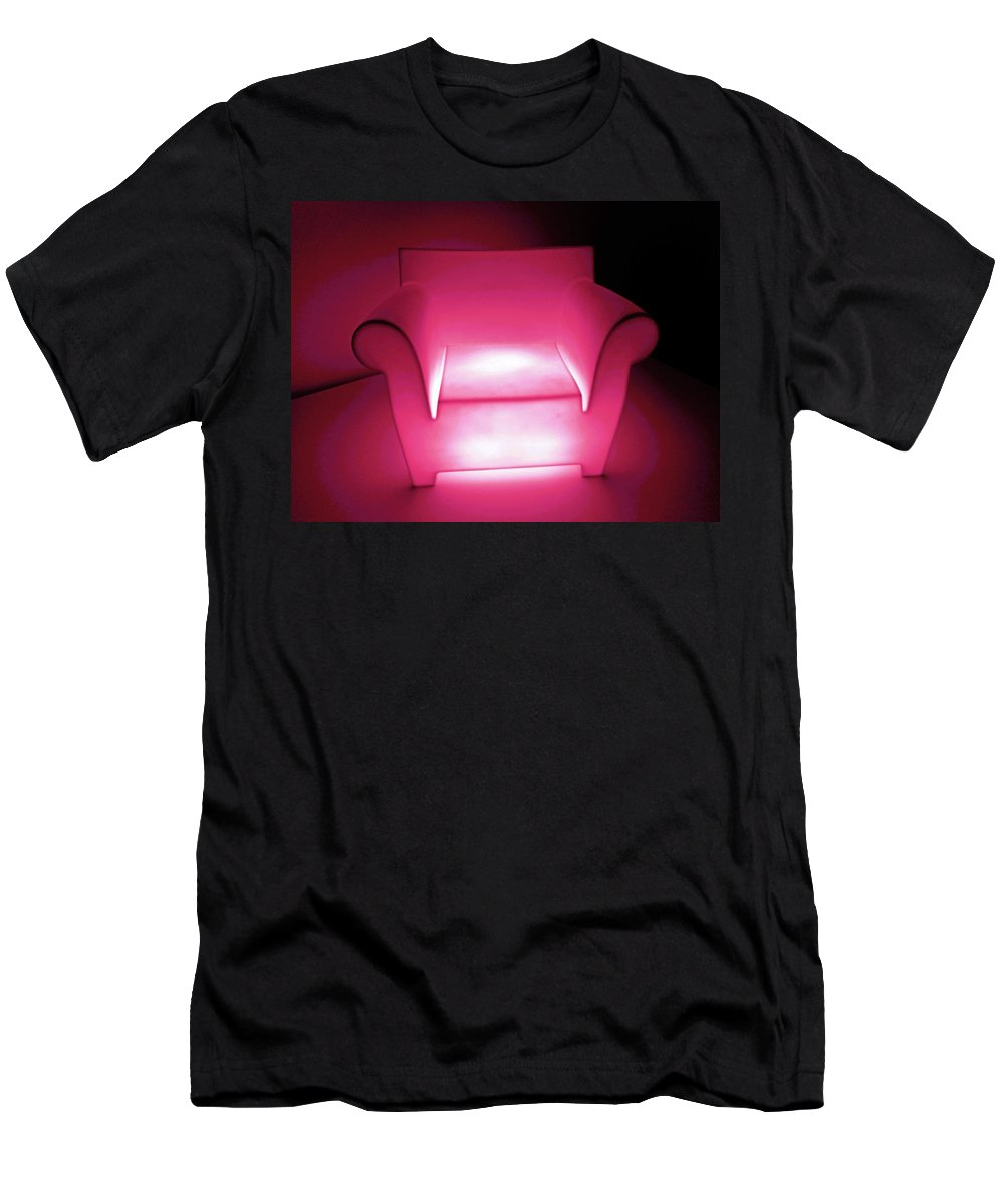 Modern Men's T-Shirt (Athletic Fit) featuring the photograph Lighted Chair 3 by Ron Kandt