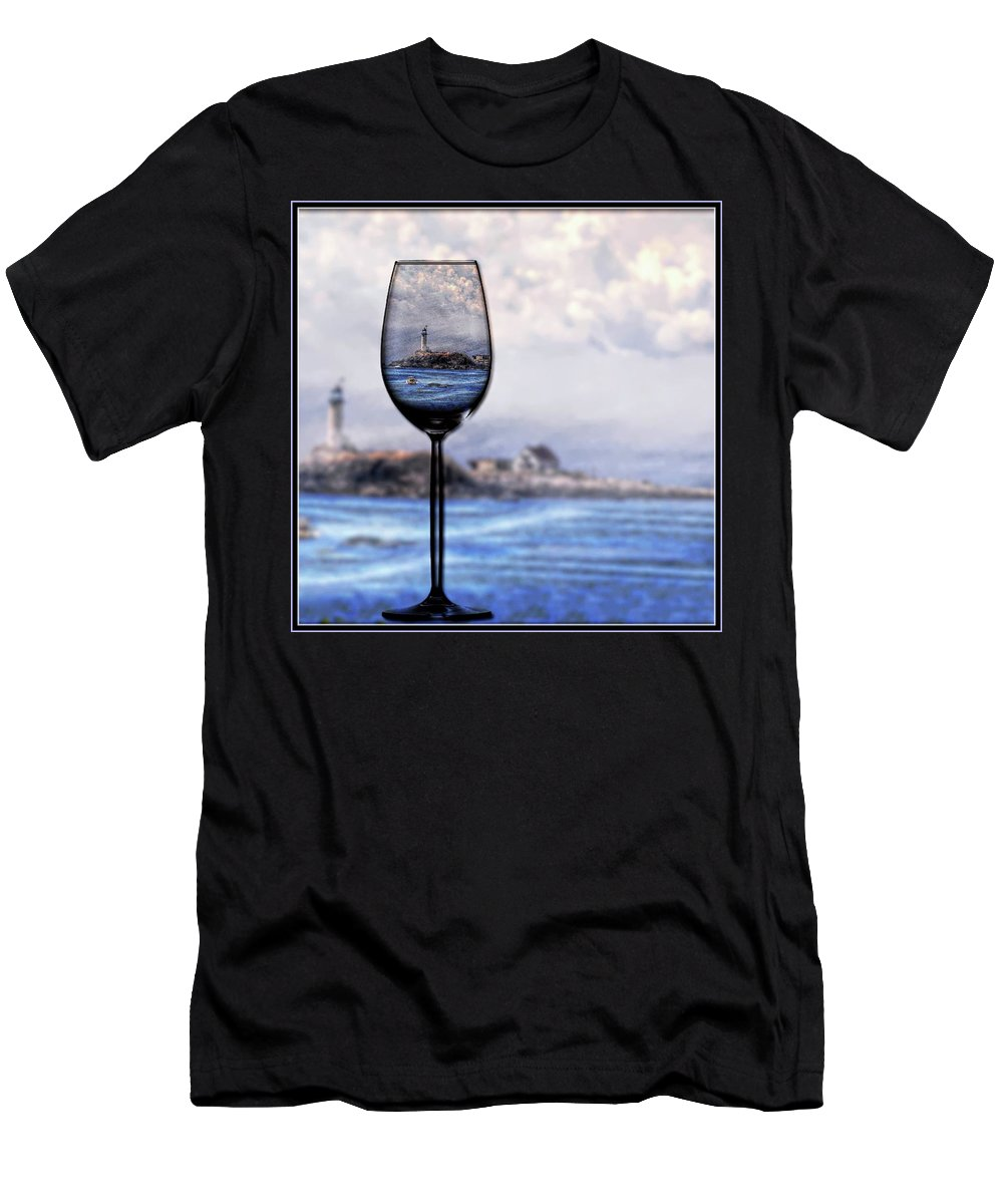 Lighthouse Men's T-Shirt (Athletic Fit) featuring the photograph Lighthouse by Phyllis Meinke