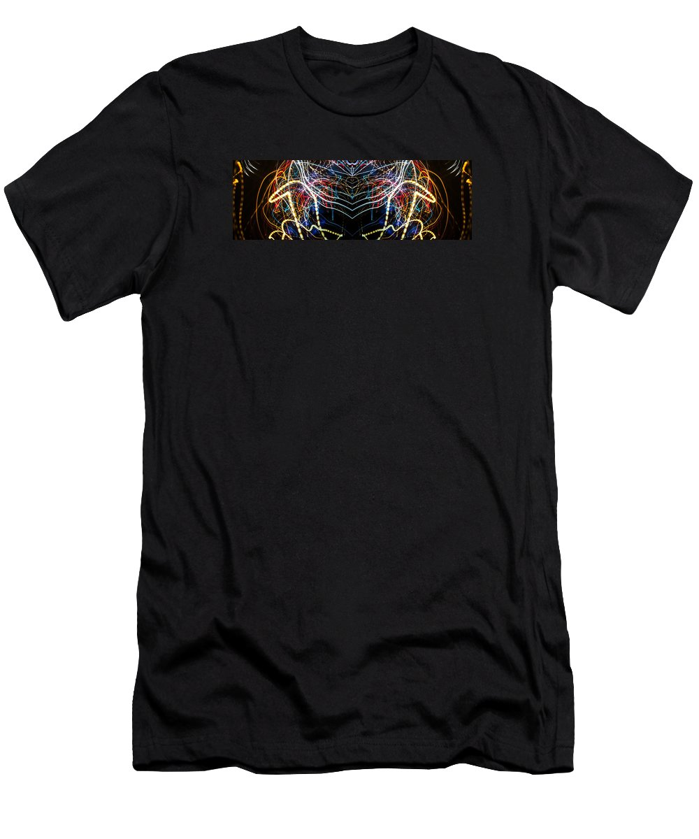 Painted Men's T-Shirt (Athletic Fit) featuring the photograph Lightpainting Panorama Print Photograph 3 by John Williams