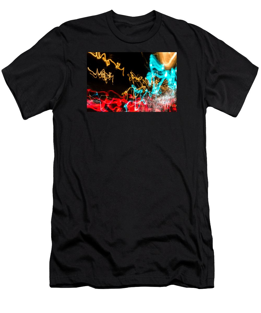 Fractals Men's T-Shirt (Athletic Fit) featuring the photograph Car Dance by John Williams