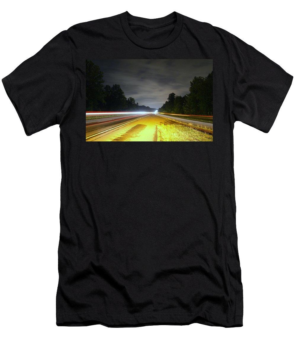 Landscape Men's T-Shirt (Athletic Fit) featuring the photograph Lightworks by Alex Grichenko