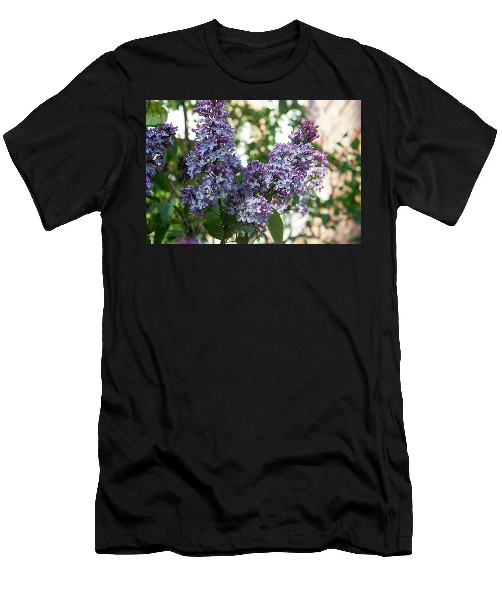 Lilac Men's T-Shirt (Athletic Fit) featuring the photograph Lilacs In Spring by Adam Gladstone
