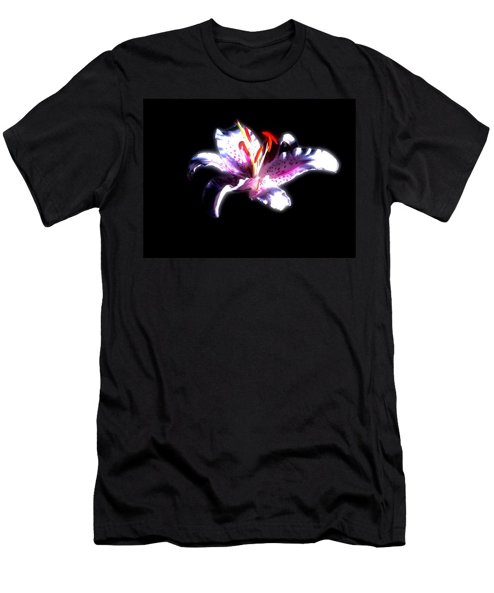 Flower Men's T-Shirt (Athletic Fit) featuring the photograph Lilly Flower by Cliff Norton