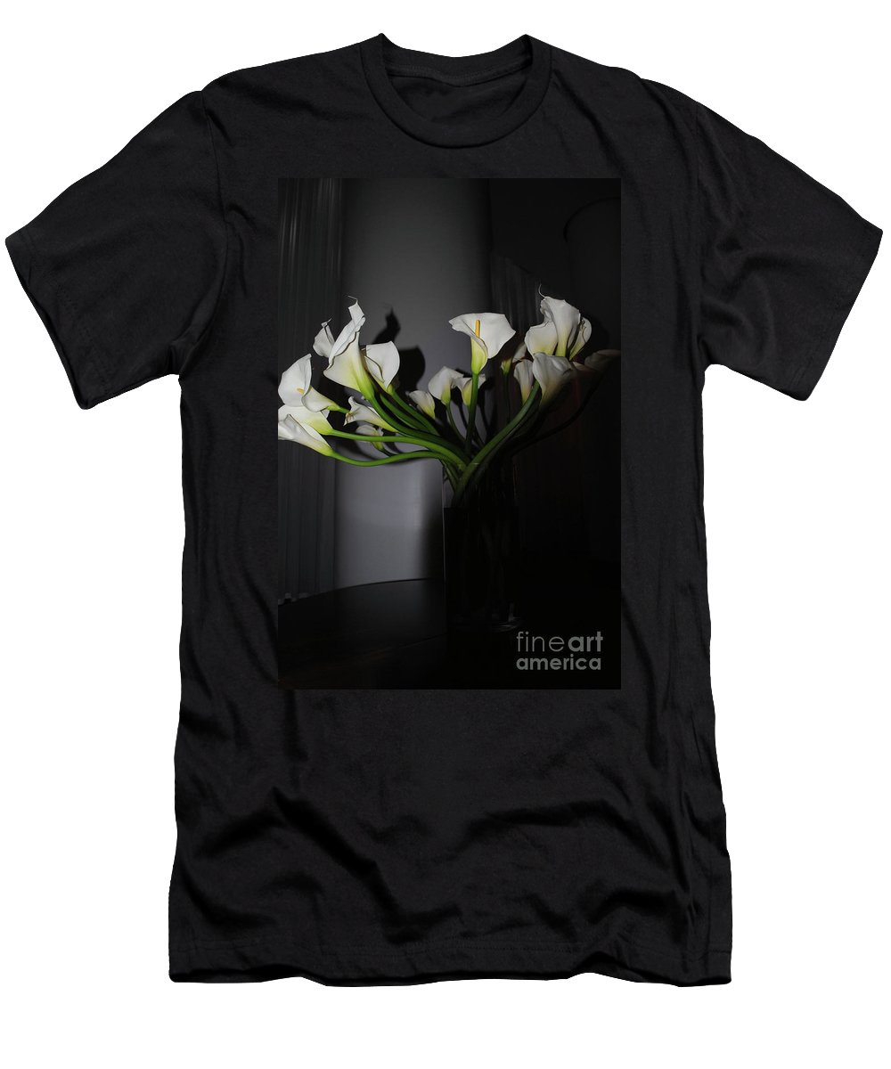 Easter Men's T-Shirt (Athletic Fit) featuring the photograph Lilly Of The Dark by Jost Houk