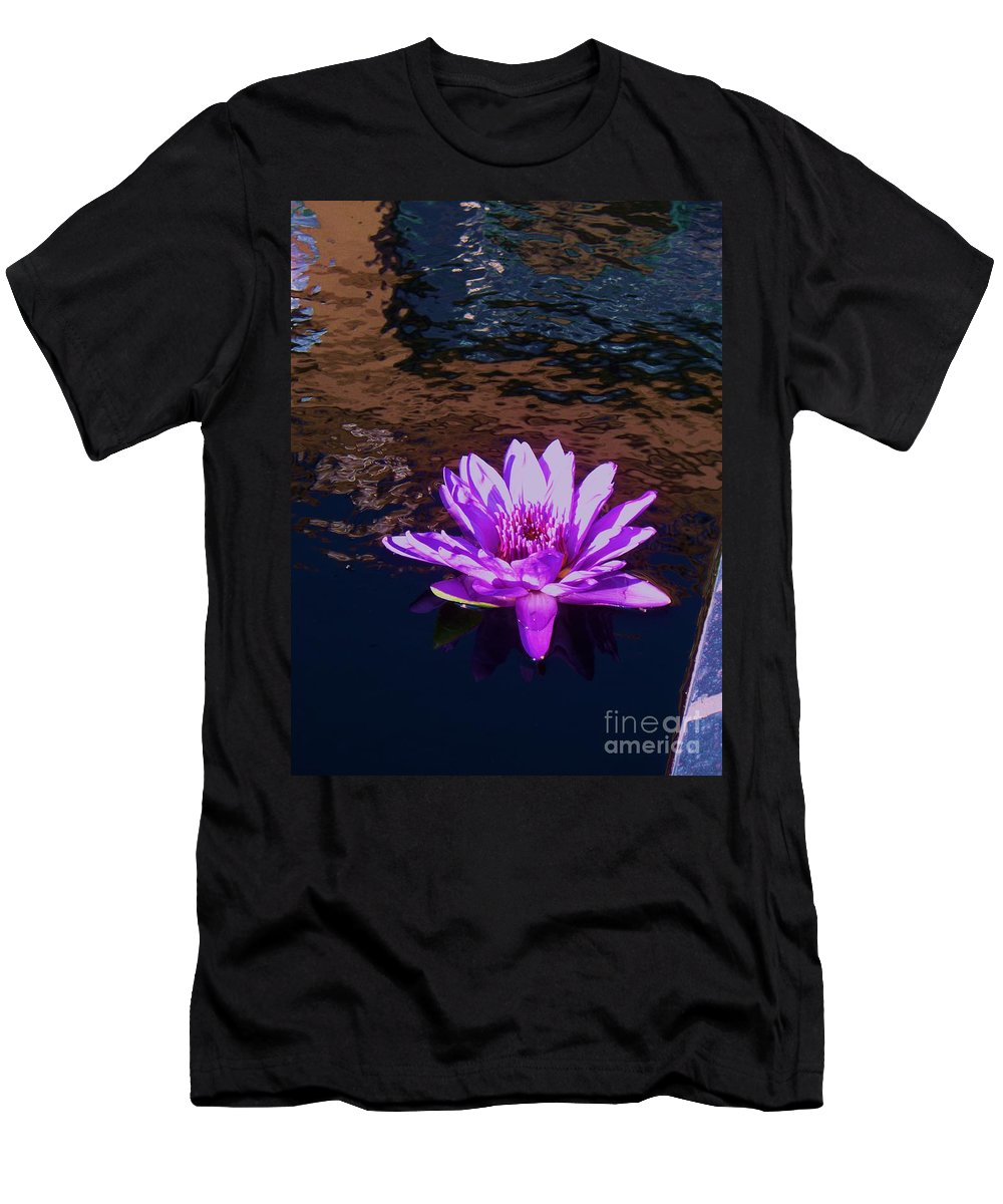 Photograph Men's T-Shirt (Athletic Fit) featuring the painting Lily In Pond by Eric Schiabor