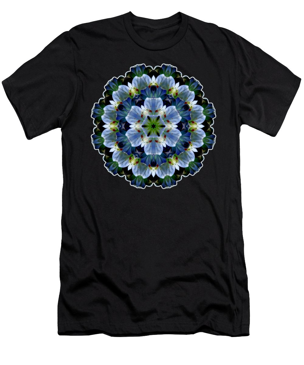 Easter Lilies Men's T-Shirt (Athletic Fit) featuring the digital art Lily Medallion by Lynde Young