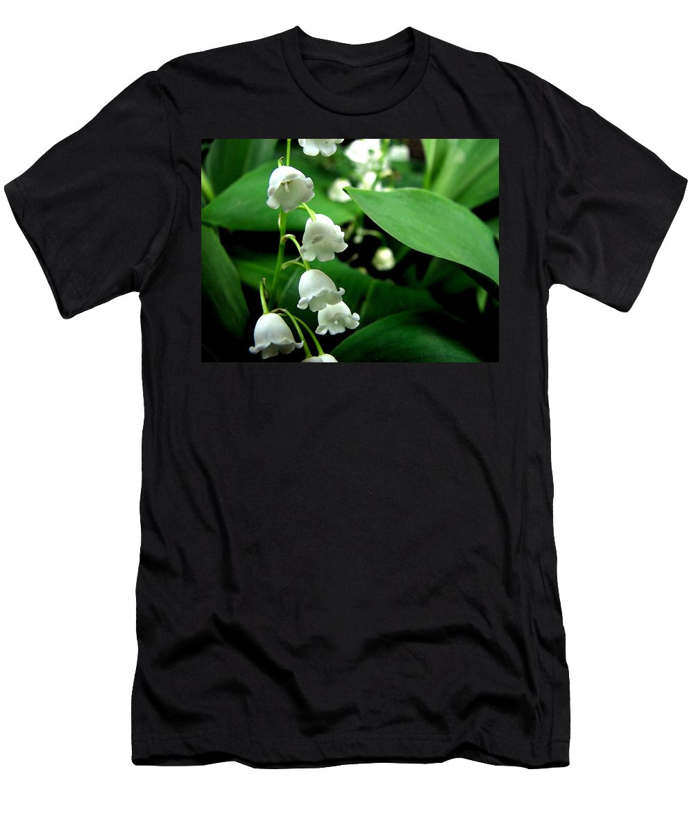 Flower Men's T-Shirt (Athletic Fit) featuring the photograph Lily Of The Valley by Michelle Calkins