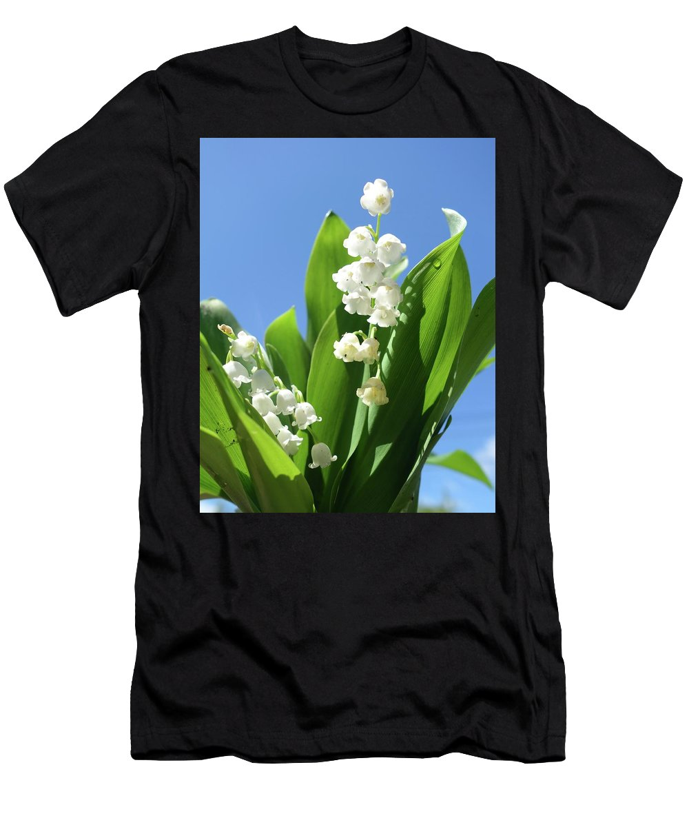 Lily-of -the-valley Men's T-Shirt (Athletic Fit) featuring the photograph Lily Of The Valley by Rauno Joks