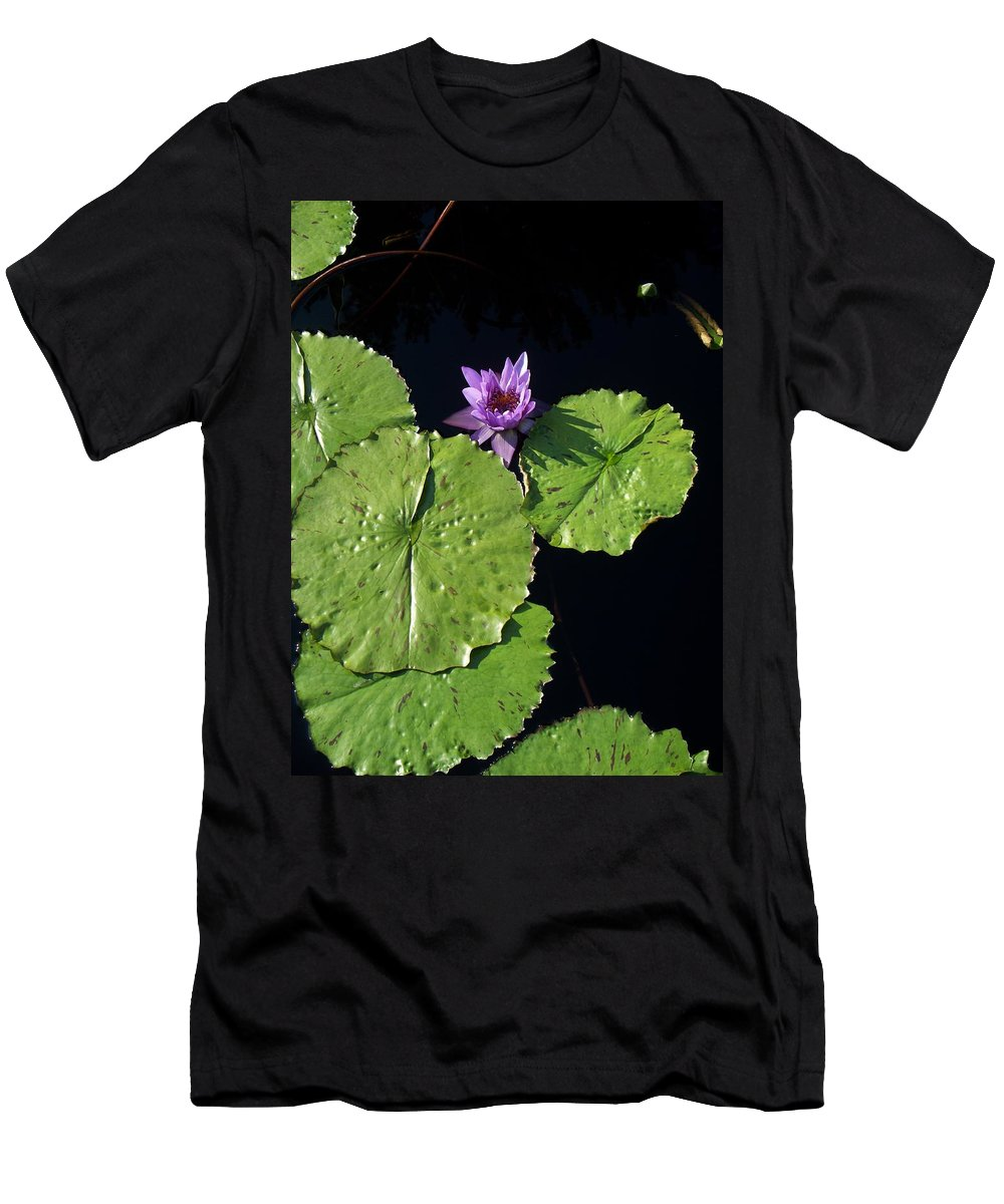 Water Lilies Men's T-Shirt (Athletic Fit) featuring the painting Lily Pads From Above by Eric Schiabor