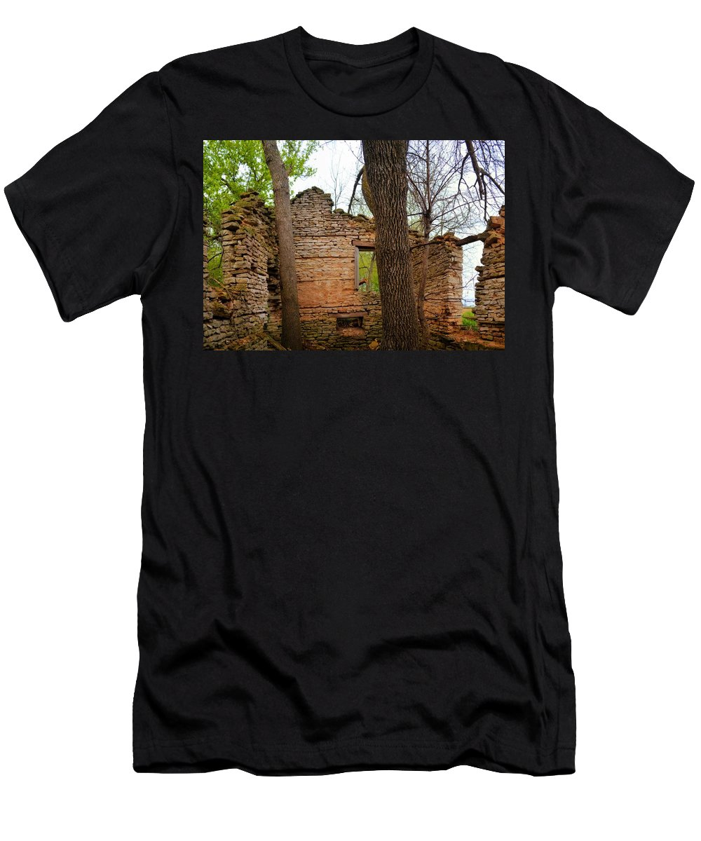 Limestone Men's T-Shirt (Athletic Fit) featuring the photograph Limestone Relic by Bonfire Photography