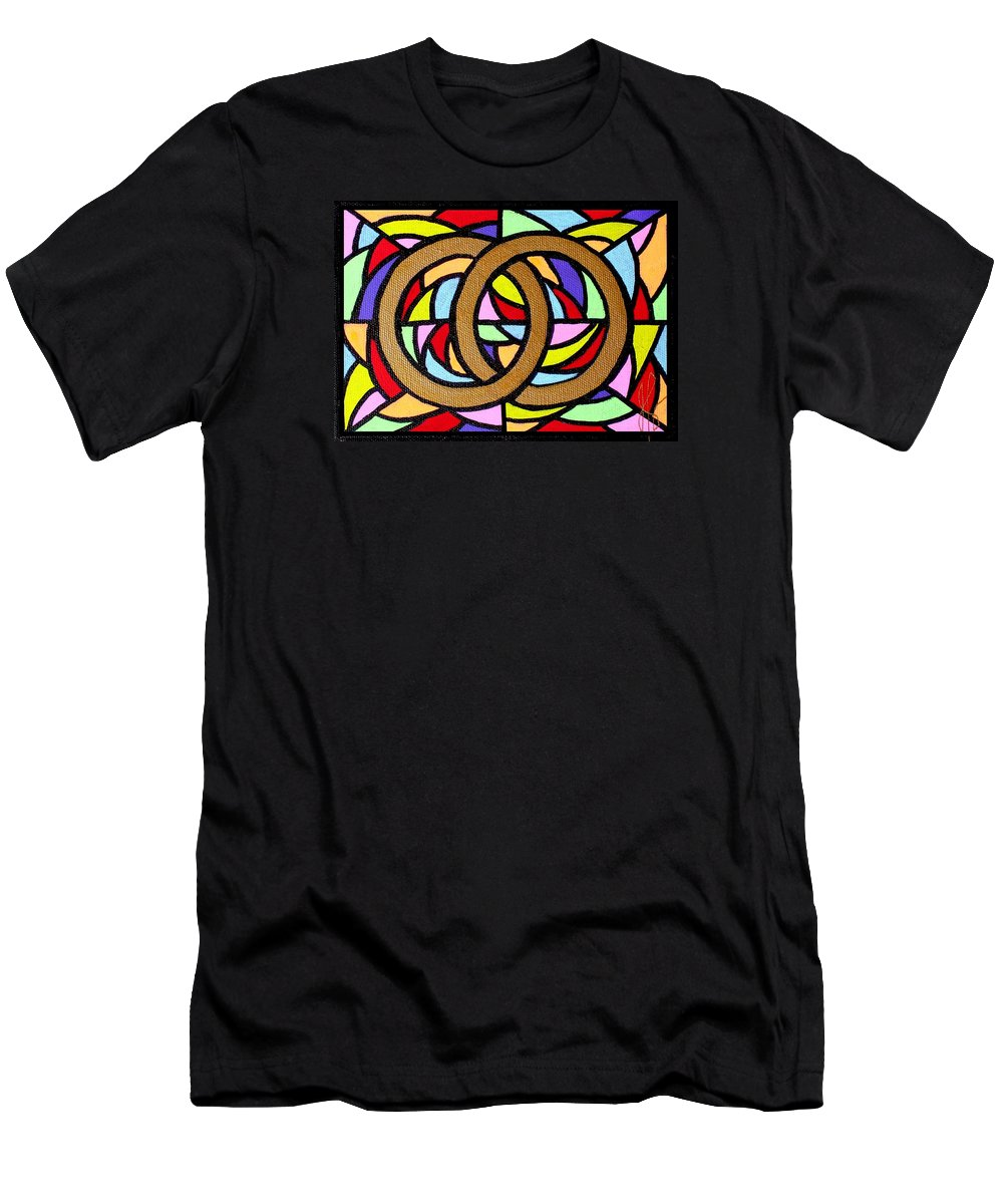 Wedding Men's T-Shirt (Athletic Fit) featuring the painting Linked by Jim Harris